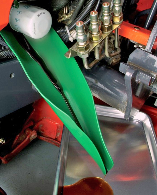 form a funnel oil change tool